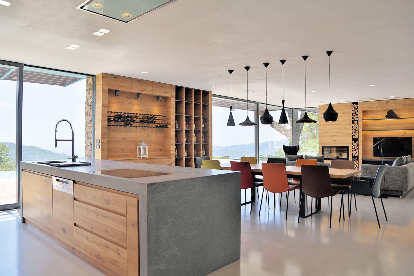 طراحی آشپزخانه ویلا مدرن
