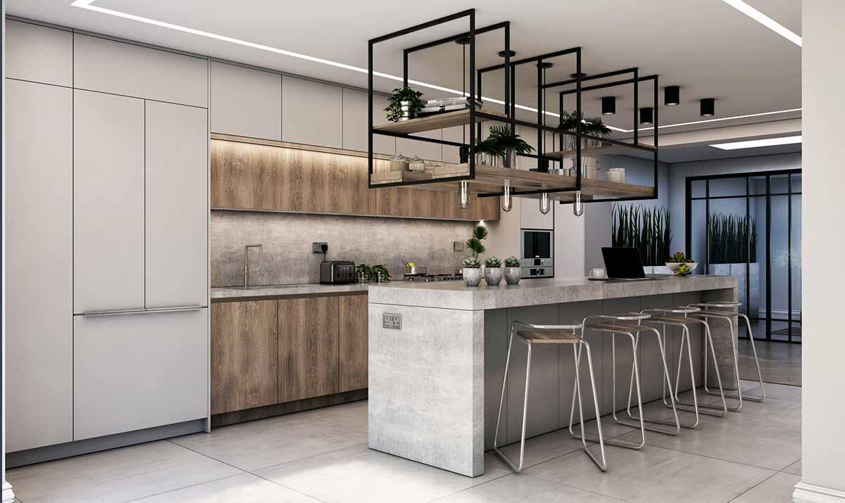 طراحی آشپزخانه ویلا